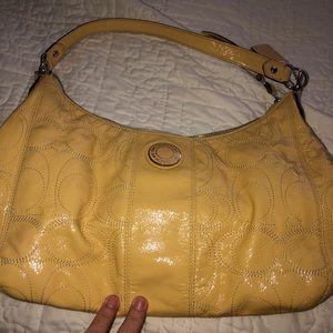 Yellow Coach shoulder bag